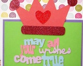 May All Your Wishes Come True Princess Birthday Card