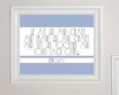Stripey Hemingway 8x10in Print - Blue