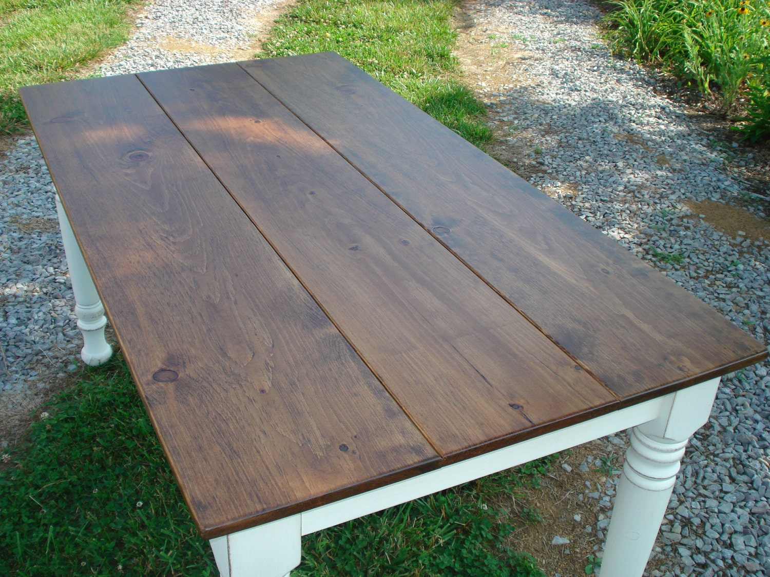Rustic Farm Tables Etsy Farm Dining Tables Kitchen by KKFurniture