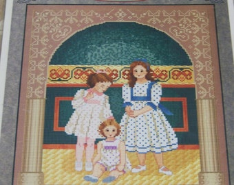 Whispered by the Wind SISTERS Counted Cross Stitch Pattern