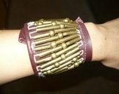 Upcycled Recycled Wide Leather Bracelet