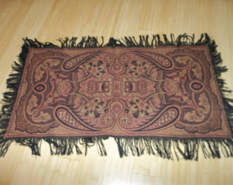 "Traditional Antique Dutch Kashmer Paisley Shawl...Excellent Condition...18"" by 34""...Plus Fringe"