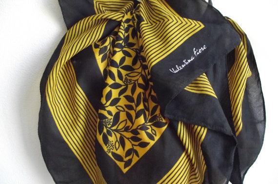 Vintage  Scarf  Black & gold Valentina Fiore
