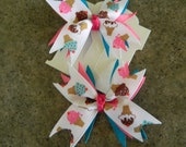 New  ICE CREAM     Ribbon Spike  hair bow set of 2              Summer Time