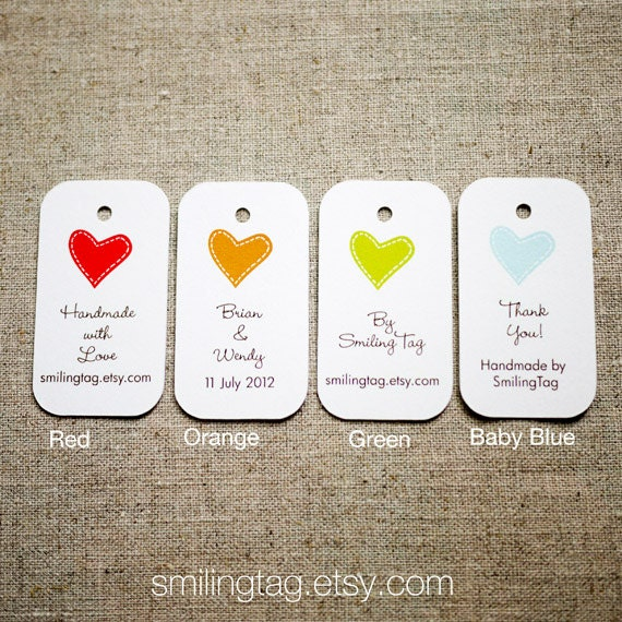 Custom Listing for jac I Heart You Personalised Gift Tags
