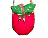 Reserved Listing for Jenna Wade, Red Apple Purse, Twilight, Snow White Red Apple Bag