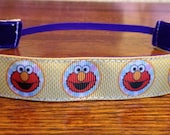 NOODLE HUGGER Non slip ribbon headband - Elmo - 7/8 inch (running, working out, everyday: women and girls)