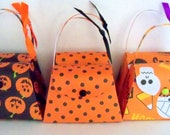 Halloween paper purse party favor (set of 6)