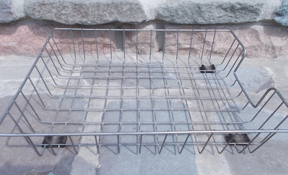 Vintage Wire Letter Tray Desk Basket Retro Industrial Price Includes US Shipping