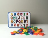 ABC Plastic Letters with Tin Container