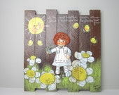 1970s 3D Children's Handpainted Wooden Wall Hanging Plaques by Diane Sargent