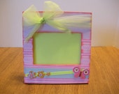 "3"".5"" x 5"" Girls Butterfly Picture Frame / Ready To Ship"