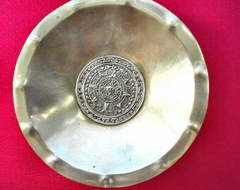 Peruvian925 Silver Bowl with MAYAN Calendar,Reduced or OBO,dlrs185