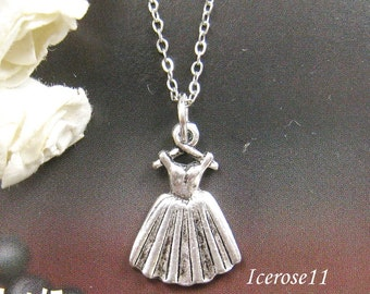 SALE - Victoria dress charm necklace