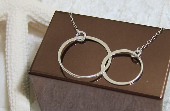 Sterling Silver Necklace. Sterling silver circles link