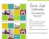 Photography Marketing Calendar Template - Quick Look 2013 Calendar - 5x7 and 8x6 Photoshop Template