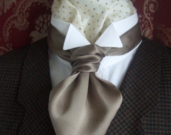 Silk Satin Self Tie Scrunchie Cravat Made in the Colour of your choice.