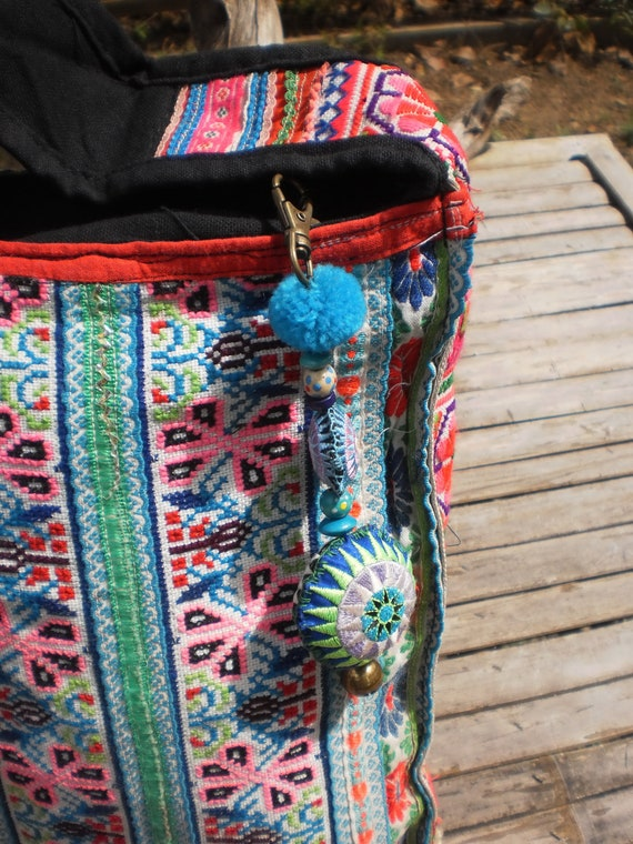 Tribal  Hmong Bag Made With  Hilltribe Vintage Textile