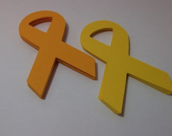 Support the Troops Yellow Ribbon Die Cuts/Embellishments