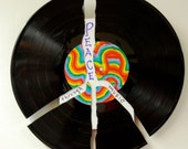 record wall art - peace through music