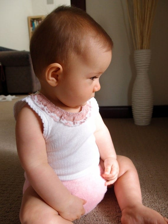 Pink Lace - Baby Girl's Tank Singlet - Size 00 for 3-6 months