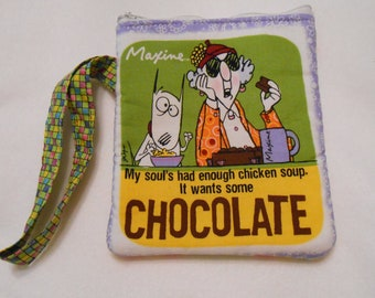 Make up bag or wipe holder,  wristlet, coin purse,  Maxine
