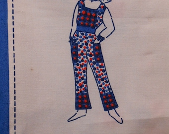 Overall toddler sewing Panel