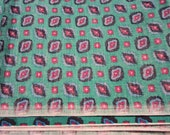 Beautiful Green and Multi color Cotton Blend fabric 1 1/3 YRDS.