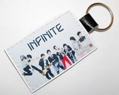 Infinite KPOP Keychain - Made with durable vinyl, a vegan alternative to leather