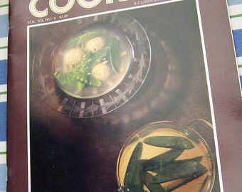 """Vintage 1985  """"The PLEASURES Of COOKING"""" Cookbook Vol VII  No. 4 by Cuisinart."""