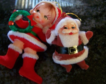 Vintage  50's Two Ornaments One Made in Hong Kong & One Made in Japan Brand New