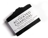Charcoal Soap - Activated Charcoal, Unscented Soap, Vegan Soap, All Natural Soap, Handmade Soap, Fragrance Free