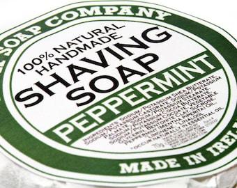 All Natural Shaving Soap Peppermint Handmade Soap For Men for Him