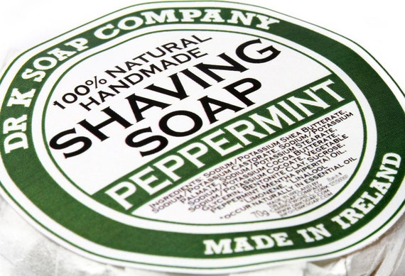 All Natural Shaving Soap Peppermint Handmade Soap For Men for Him