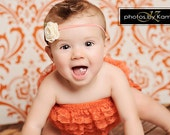 CLEARANCE Baby petti romper - ORANGE - Photography Prop - With or Without Straps