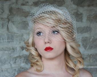 Birdcage Veil, Blusher Veil, Wedding Veil, Bridal Veil - Small Size, Elaine