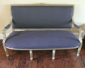 Items Similar To Black And White Pinstripe French Settee