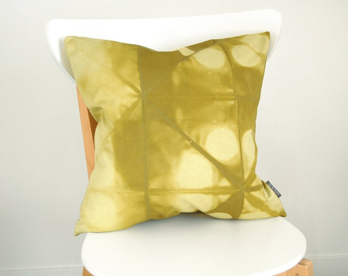 Tie Dye Green Pillow Cover - Contemporary Shibori - 18x18 inches - Avocado