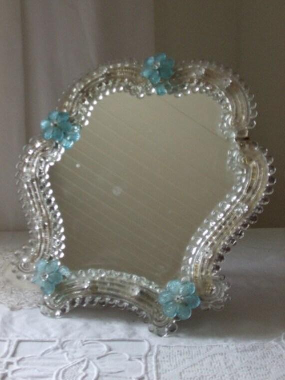 Vintage French Murano Venetian mirror.  Paris apartment