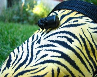 Climber's Chalk Bag Tiger Stripes Fleece Lined