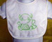 Rawr Monster embroidered bib
