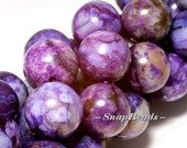 Purple Charoite Gemstone Round 12mm Loose Beads 15.5 inch Full Strand (10229973-40)