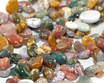 Masquerade Ocean Jasper Gemstones River Pebble 15X12MM Loose Beads 8 inch Half Strand (90108569-106)
