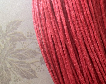 1 mm Red Colour Waxed Cotton Cord (.mcc)