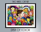 Dash of Color Print, 8 1/2 X 11 inches