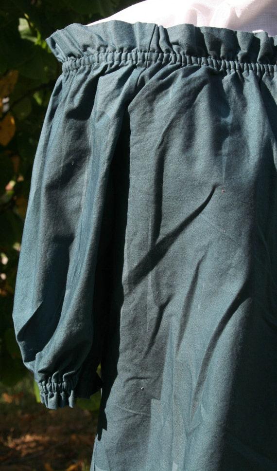 Renaissance Blouse - Medium Sleeve - Large - Kilt Green Kona Cotton