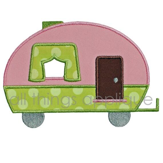 Applique Camper Embroidery Design