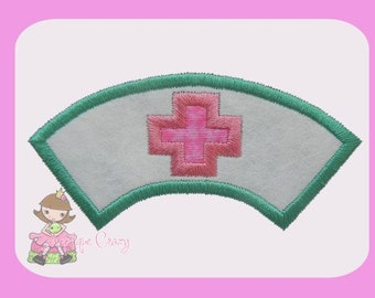 Nurse hat  Applique design