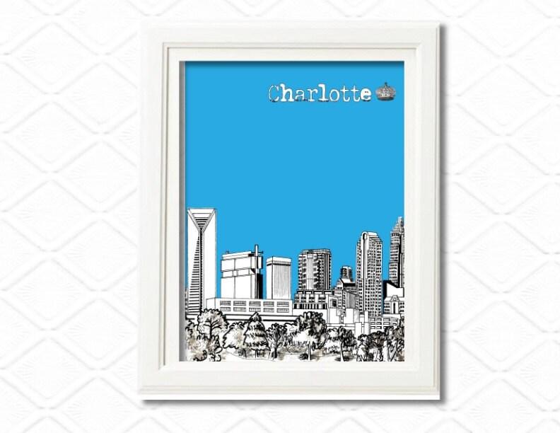 Charlotte traveler poster wall art print 8x10 by wallartshop - Wallpaper store charlotte nc ...