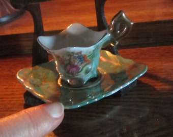 Child Size (2) Tea Cups and Saucers with stand